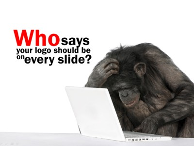 Don't use logo on every slide of your sales presentations