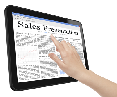 Sales presentations on iPads and PCs: Don't send the written proposal in PDF