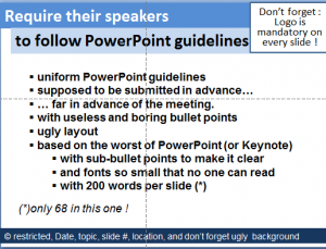 Annual meetings bombarding people with Powerpoint do work!