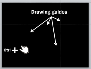 Drawing guides and rule of thirds